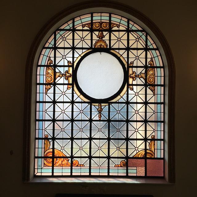 Glas in lood oud gebruik